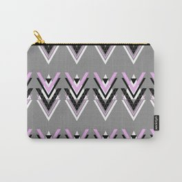 Geometric V Pattern Carry-All Pouch