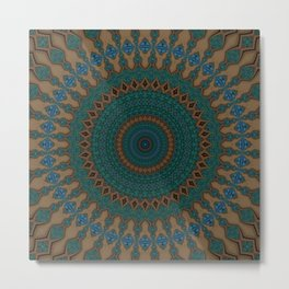 Recreational Maylanta Mandala 38 Metal Print