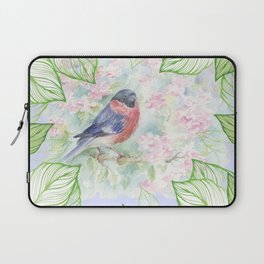 Spring song of Bullfinch Laptop Sleeve