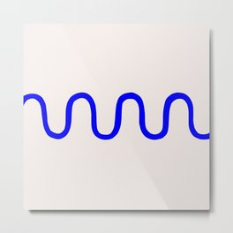 Abstract Shape Series - Squiggle Metal Print