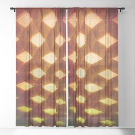 Trapez 1/5 Retro autumn by Brian Vegas Sheer Curtain