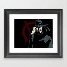 V for Vendetta (e1) Framed Art Print