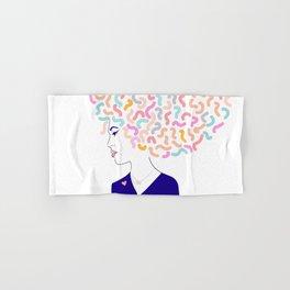 'To Strong Women' Typographic Portrait #grlpwr #illustration Hand & Bath Towel