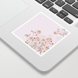 FRENCH PALE ROSES Sticker