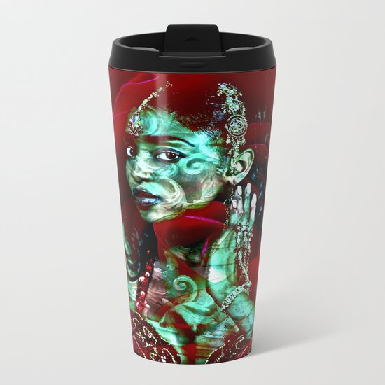 ORIENTAL ROSE Metal Travel Mug
