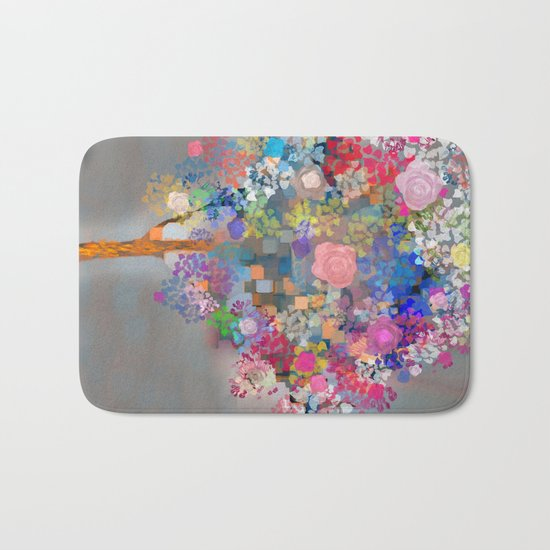 Floral abstract(56) Bath Mat