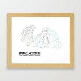 Mount Norquay, Alberta, Canada - Minimalist Trail Art Framed Art Print