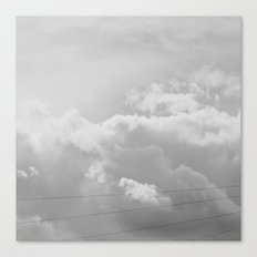 Heavenly in black and white Canvas Print