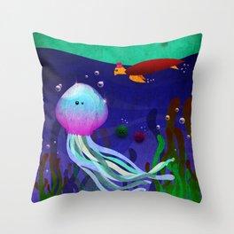 Mr. Jellyfish Throw Pillow