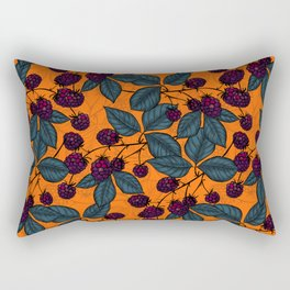 Blackberry hand- drawn pattern Rectangular Pillow