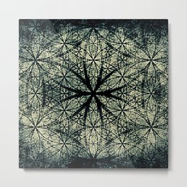 Sacred Geometry for your daily life -  ESOTERIC FLOWER OF LIFE Metal Print