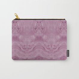 Hidden Butterflies Pink Marble Abstract Carry-All Pouch