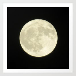 Full Moon Closeup Original Photograph Home Decor Gift Art Print