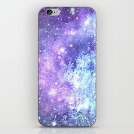 Grunge Galaxy Lavender Periwinkle Blue iPhone Skin