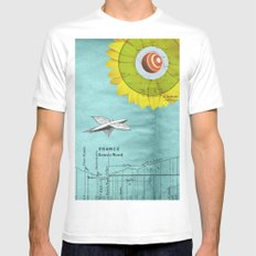 Spacecraft Mens Fitted Tee White MEDIUM