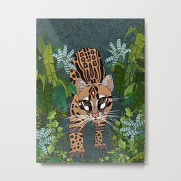ocelot jungle nightshade Metal Print