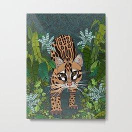 ocelot jungle nightshade Metal Print