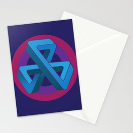 Tri-Tip Mobius Strip Stationery Cards