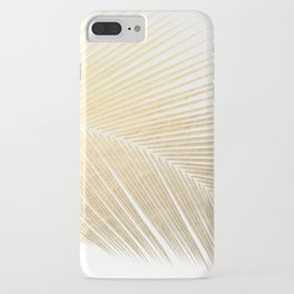 Palm leaf - gold iPhone Case