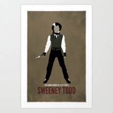 Sweeney Todd Art Print