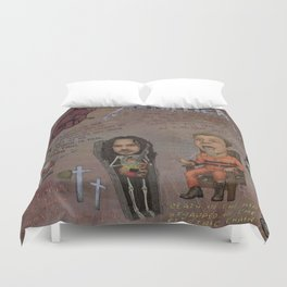 With Hell In My Eyes And With Death In My Veins Duvet Cover