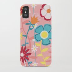 Flowers on Pink Slim Case iPhone X