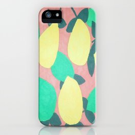 Lemony Fresh Citrus Pattern iPhone Case