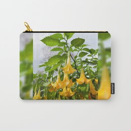 Big yellow Brugmansia called Angels Trumpets Carry-All Pouch