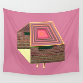 Pink Virtual House Wall Tapestry