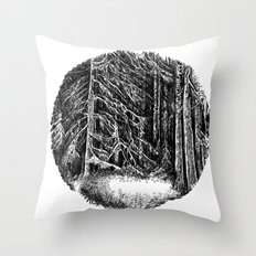 Wall of forest Throw Pillow