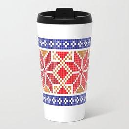 Cross stitch pattern 01 Travel Mug