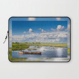 Old wooden boat in Biebrza wetland Laptop Sleeve