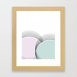 Abstract illustration in pastel and soft colors, perfect for clothes, furniture, art, gifts Framed Art Print