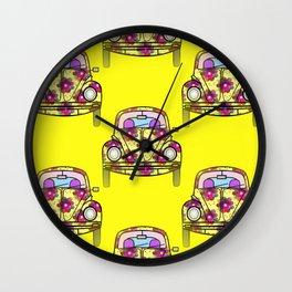 Car Repeat Wall Clock