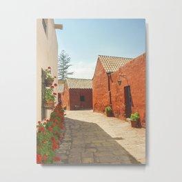 Street of Santa Catalina Monastery Metal Print