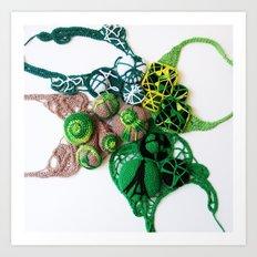 Green Lace Fine Art Photography Art Print