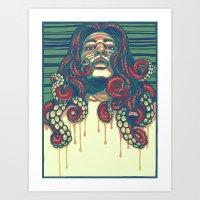 Octolocks Art Print