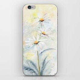 White Daisies iPhone Skin