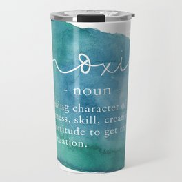 Moxie Definition - Blue Watercolor Travel Mug
