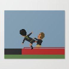 Cantona kung fu kick Canvas Print