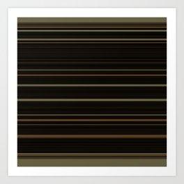 Coffee Brown Stripes Art Print
