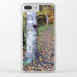 Birch Tree Trail Clear iPhone Case