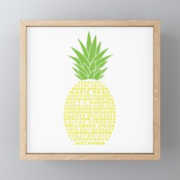 Gus's Nicknames Pineapple Framed Mini Art Print