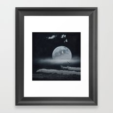 moon-lit ocean Framed Art Print