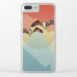 Two flying eagles Clear iPhone Case