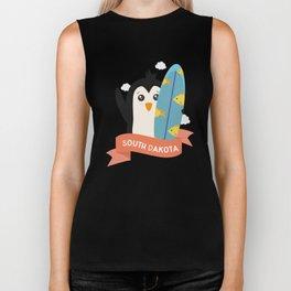 Penguin Surfer from South Dakota T-Shirt Biker Tank