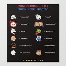 Paranormal 101 Canvas Print