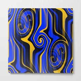 Regal Blues Abstract Metal Print