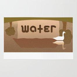 MOTEL WATER ambigram Rug