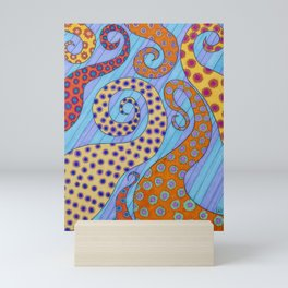 Tendril Blossoms Mini Art Print